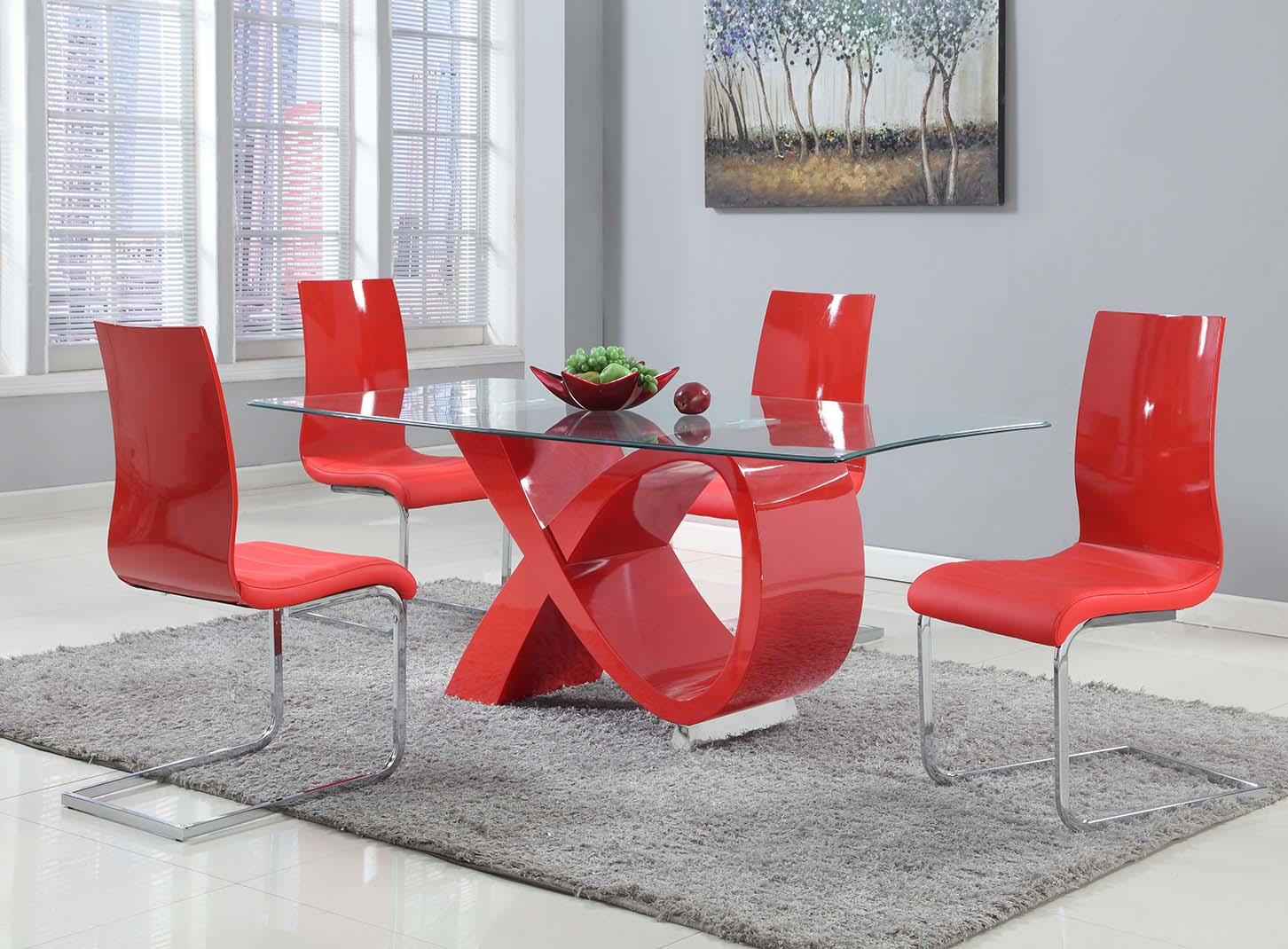 Gu989 7pc Dining Room Set Genesis Furniture