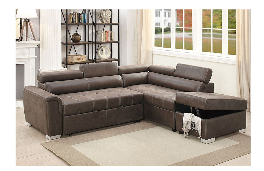 cupboard furniture reversible sectional sofa poundex