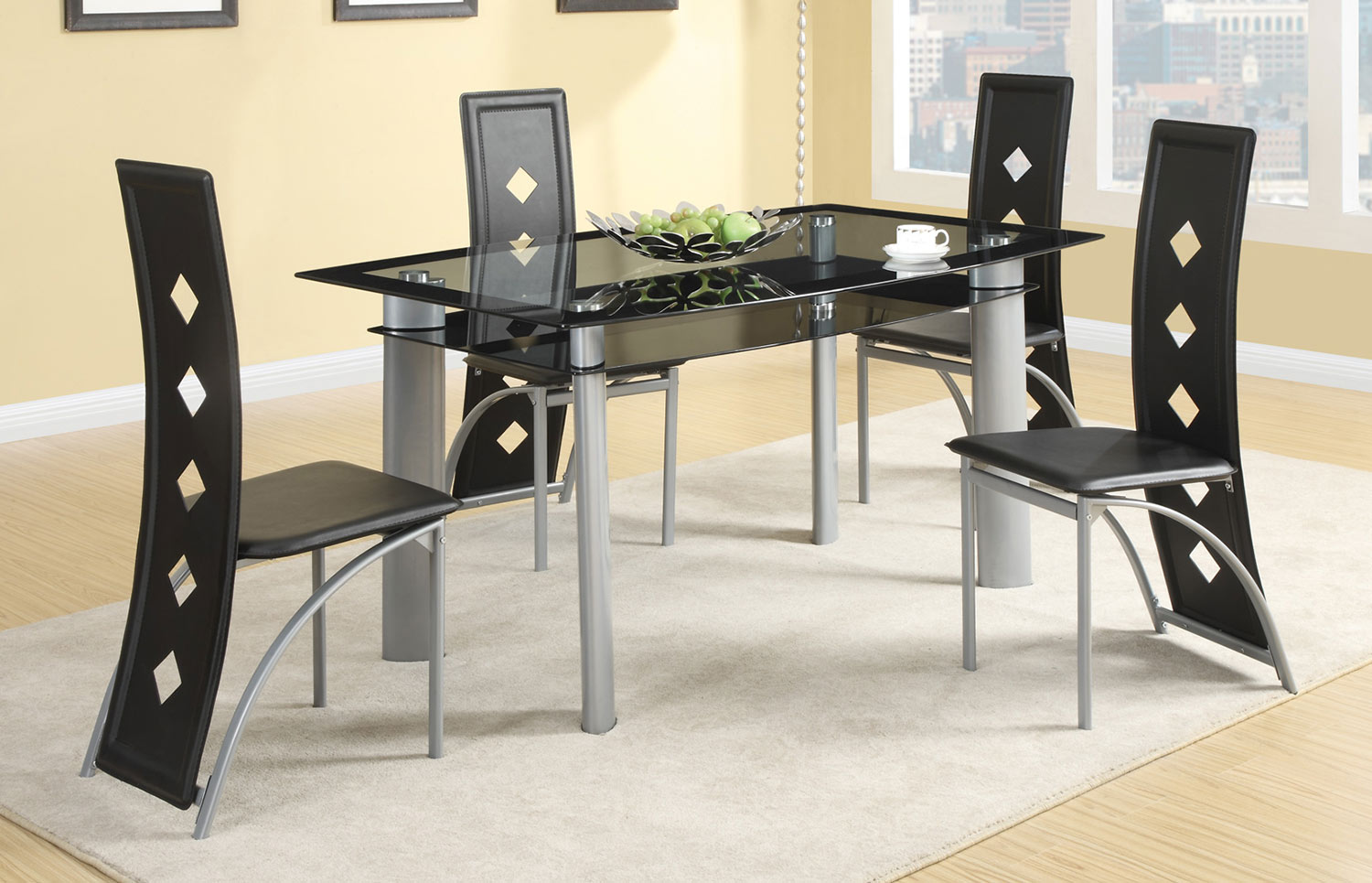 Metal Table For Kitchen Los Feliz Contemporary Metal Table Chairs Genesis Furniture