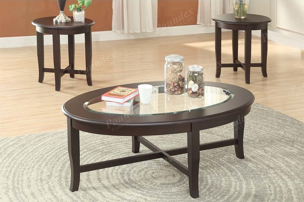 Poundex Coffee Table.F3167 3pc Ocasional Set By Poundex Furniture Genesis Furniture