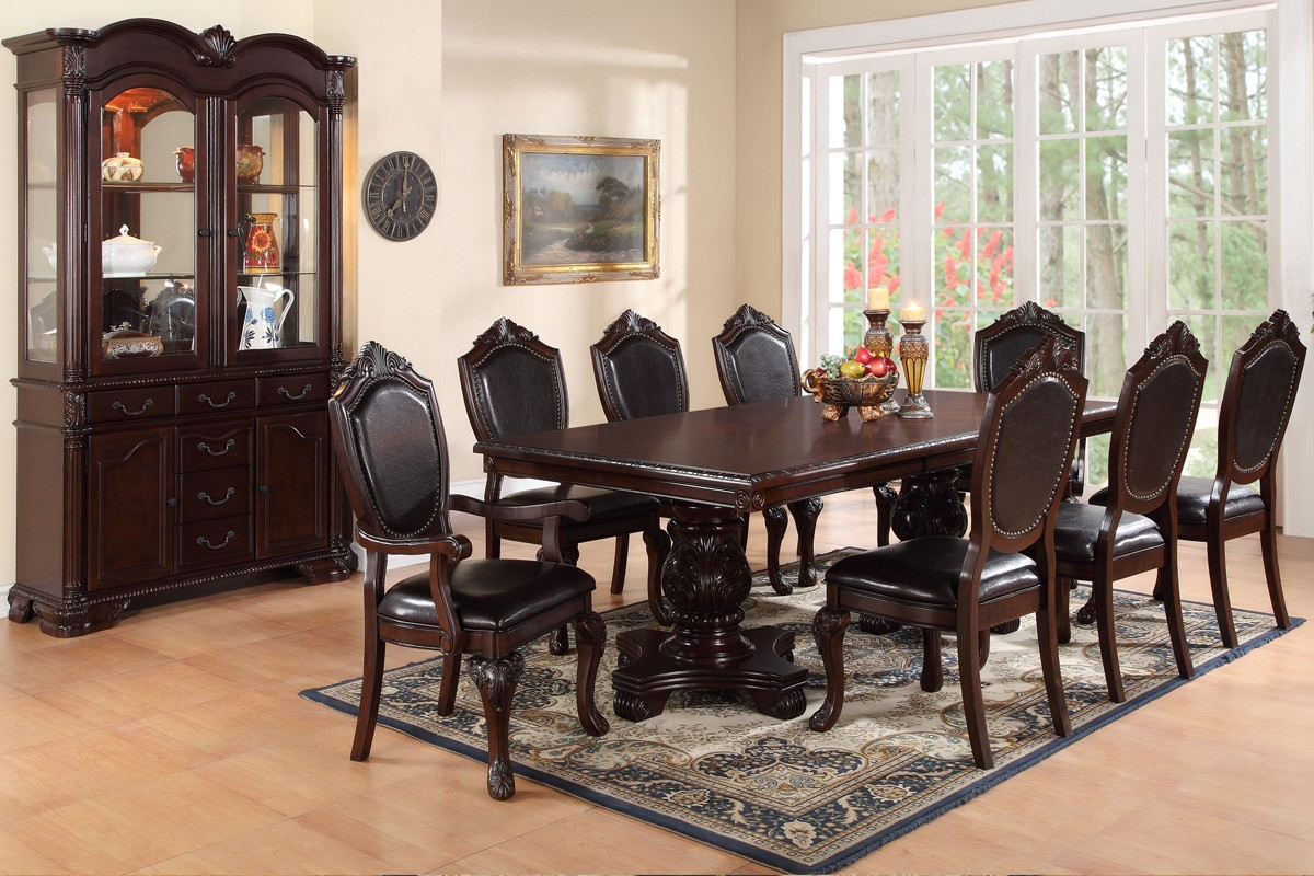f2182 7pc traditional dining room set genesis furniture