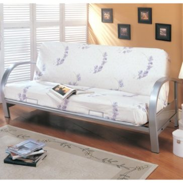 7251 Silver Futon Frame by Coaster Furniture
