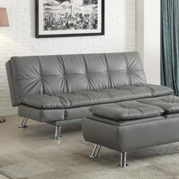 Dilleston Sofa Bed in Futon Style with Chrome Legs by Coaster Furniture