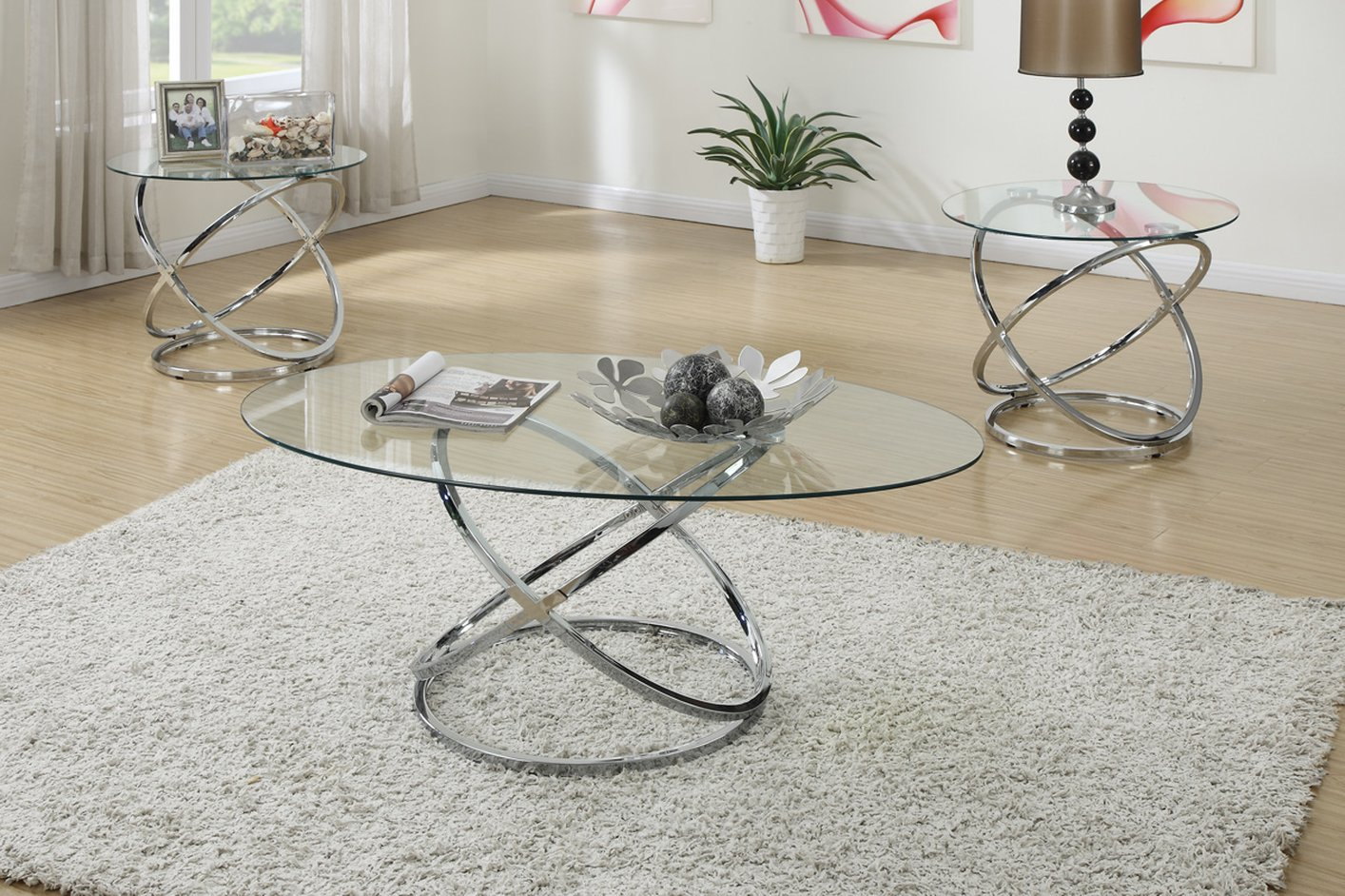 Poundex F3087 3pc Coffee Table Set Genesis Furniture