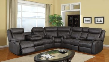 7303 Rummy Charcoal Sectional by Universal Industries