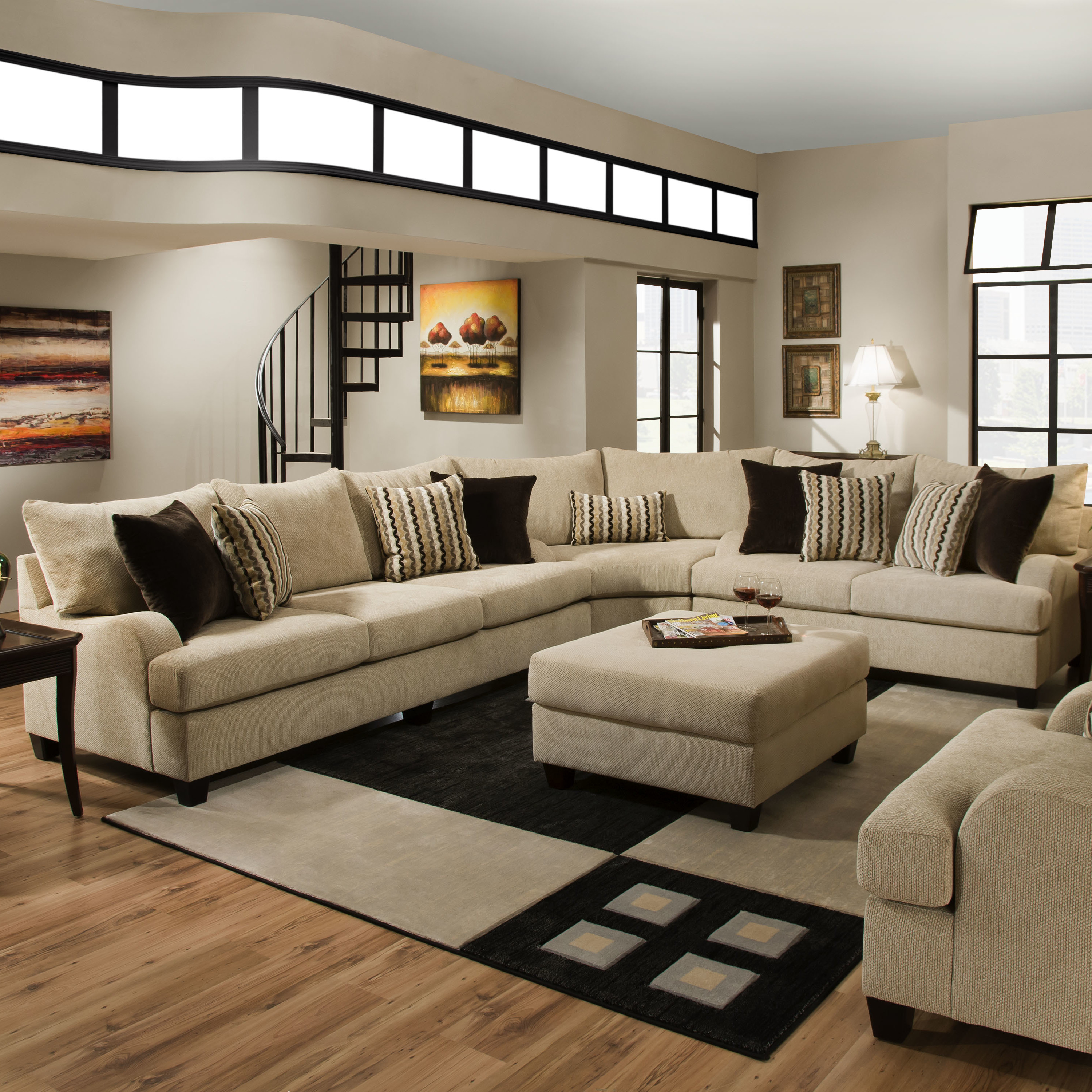 Simmons Living Room Furniture. Trinidad Sectional by Simmons  Genesis Furniture