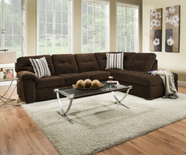 9578 Bernie Godiva 2pc Sectional by Simmons