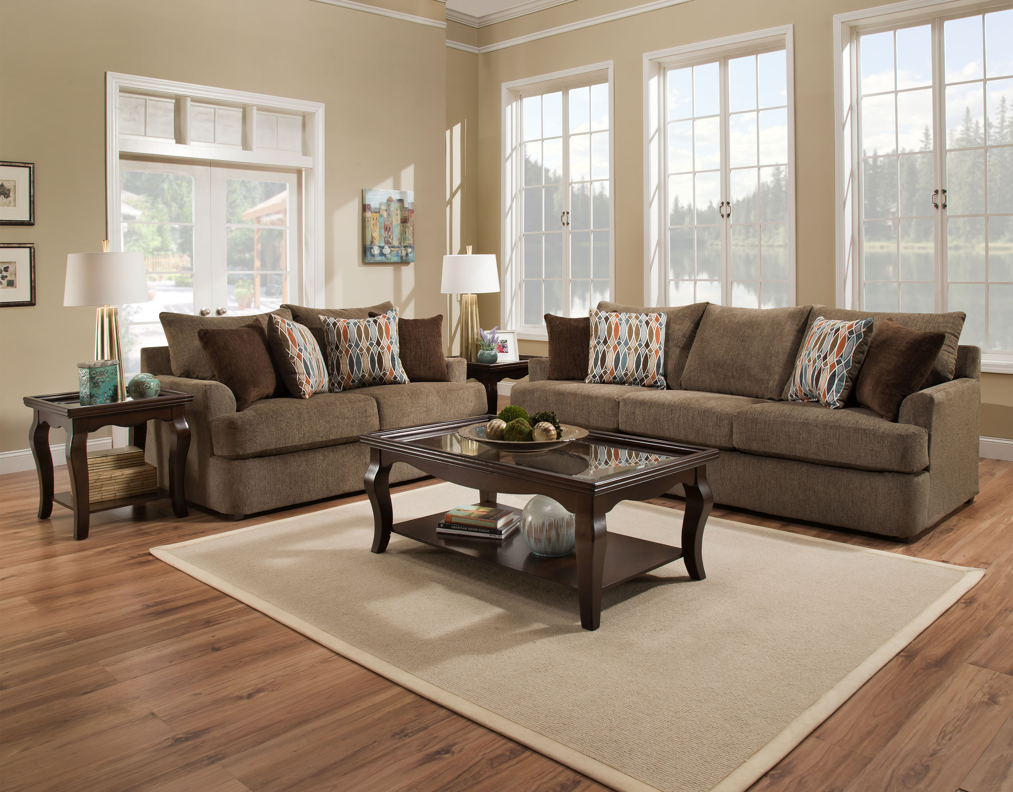 8540 Grandstand By Simmons Sofa And Love Seat Genesis